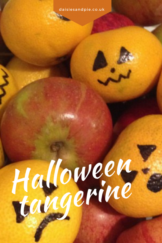 Halloween tangerine, super cute Halloween food, Halloween decorations for kids to make