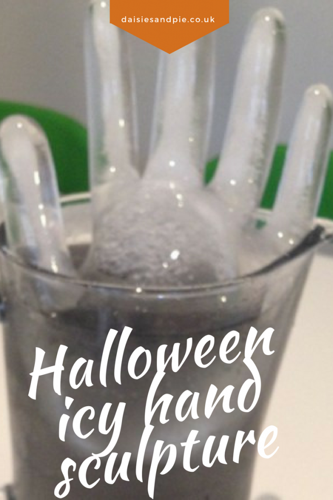 Brilliant Halloween activities for kids, how to make an icy hand sculpture for halloween drinks, halloween party ideas