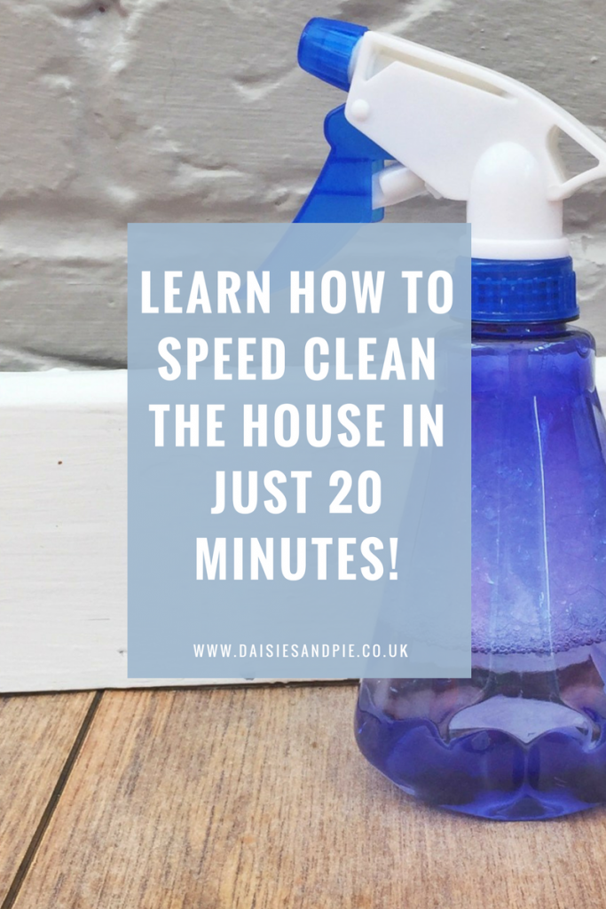 How to speed clean the house in 20 minutes