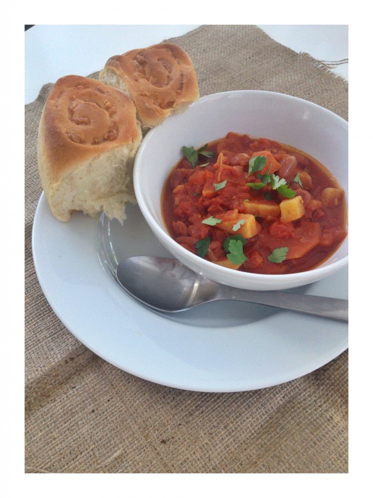 bbq beans, summer stew recipe, borlotti bean stew