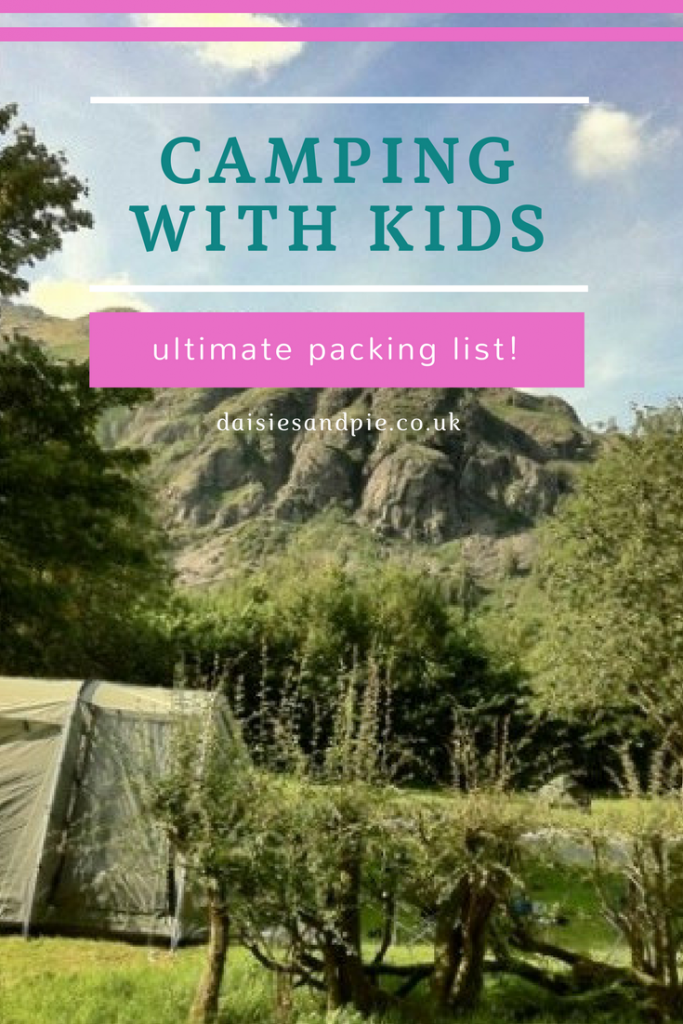 What to pack when camping with kids, ultimate packing list for a camping trip with the family, camping hacks