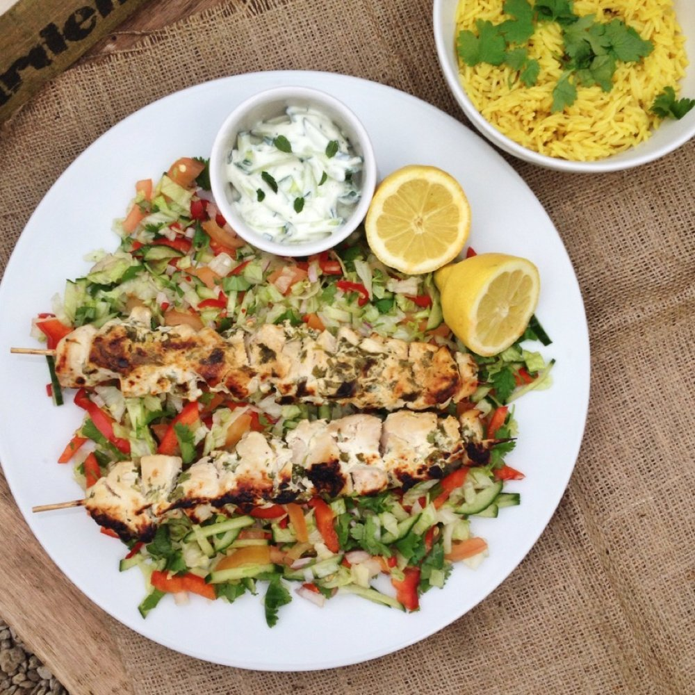 Garlic and herb chicken kebab recipe