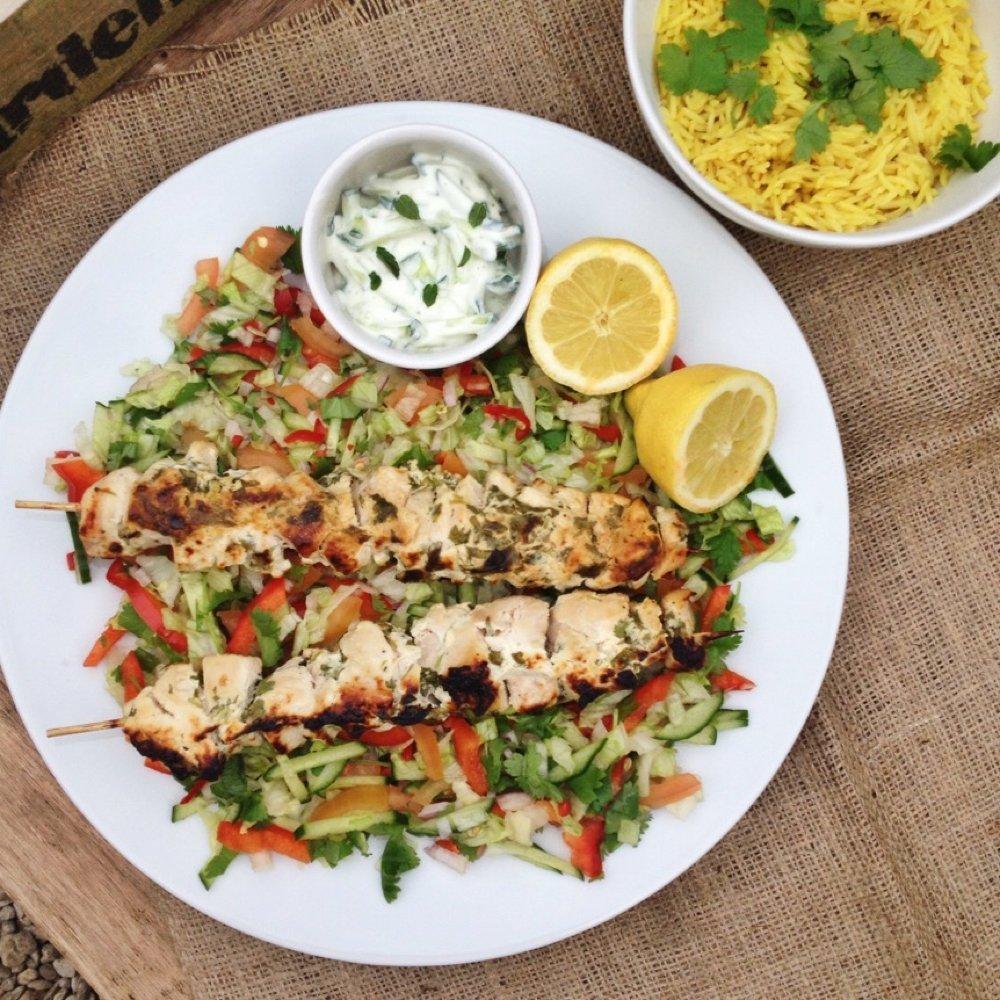 Garlic and herb chicken kebab recipe