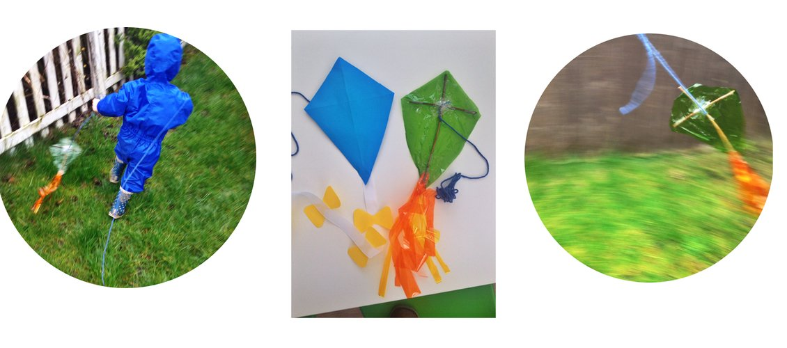 how to make quick kites, how to make rainy day kites, quick kite, simple kite making instructions