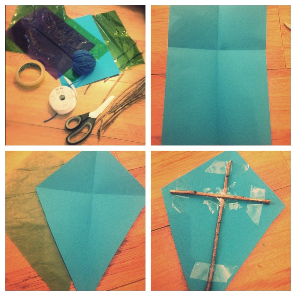 simple kite making instructions, how to make a kite, easy kite making guide