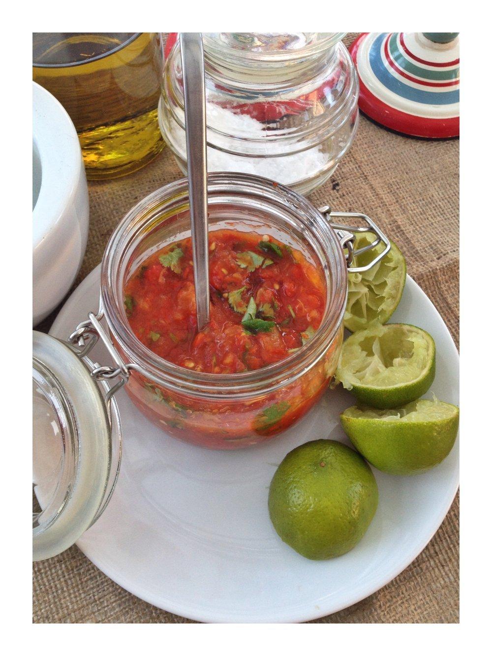 Mexican roast tomato salsa
