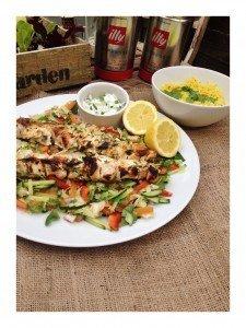 indian style salad, yogurt marinade for meat, chicken kebab recipe, easy kebab recipe for BBQ