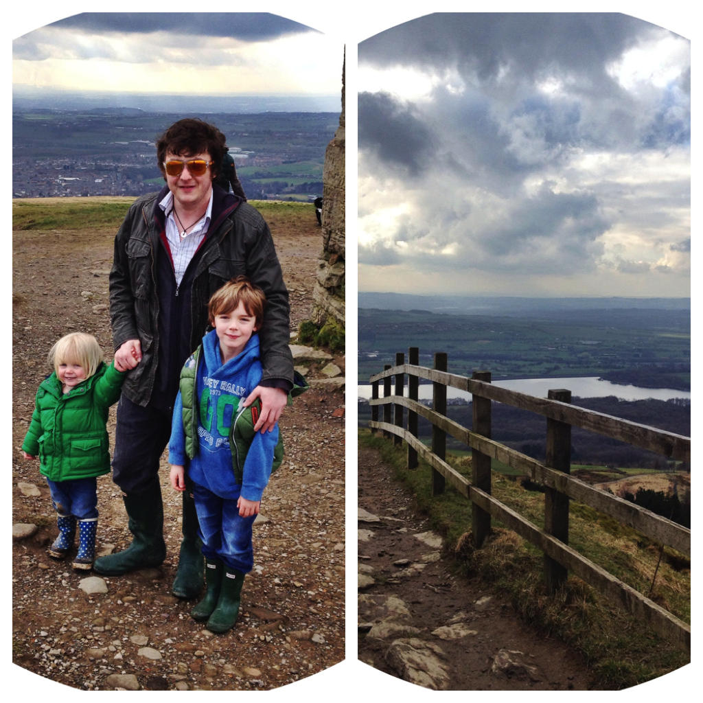 top of winter hill, rivington pike, hill walking