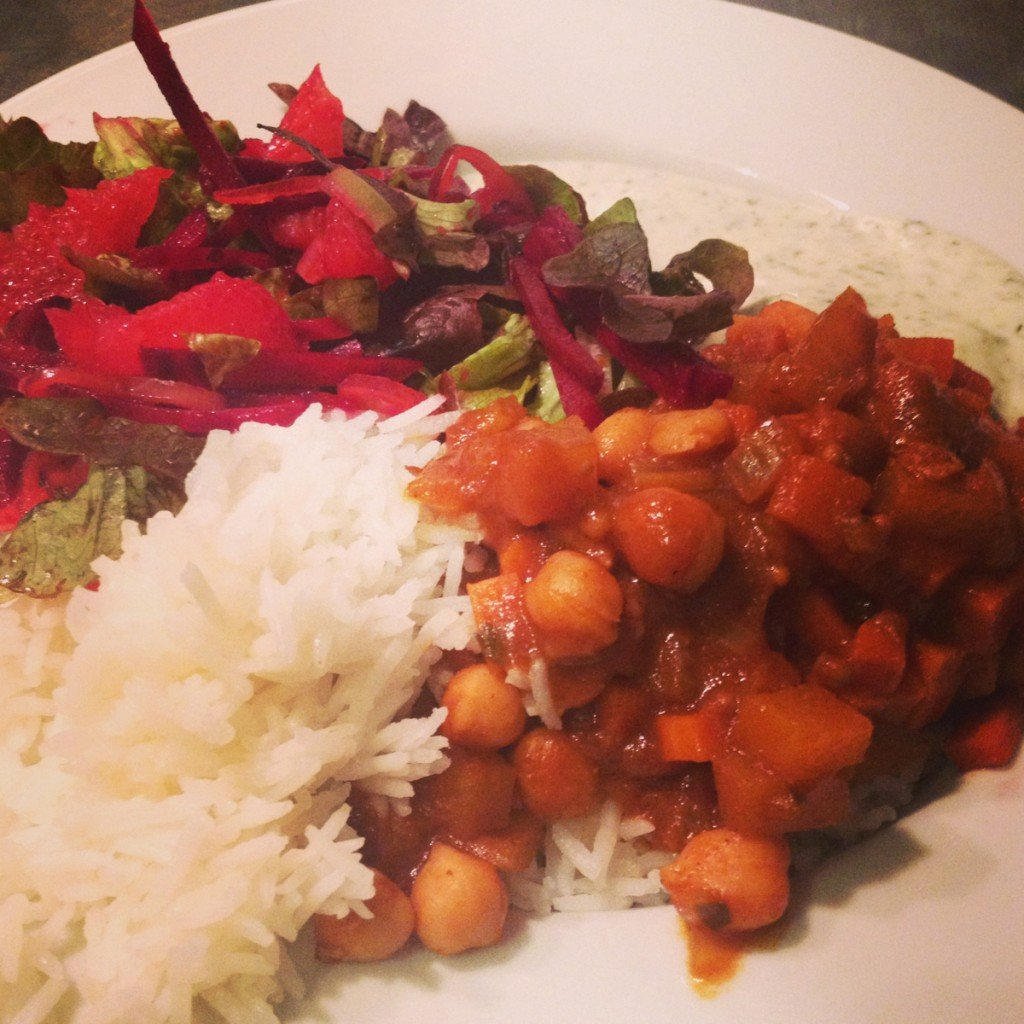 veg box curry recipe, mix and match vegetable curry, beetroot salad, purple chillies, vegetarian curry recipe