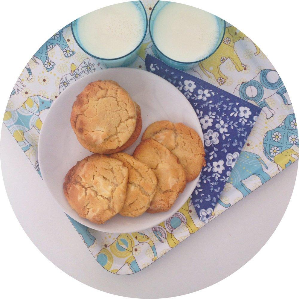 Scrumptious white chocolate chunk cookies