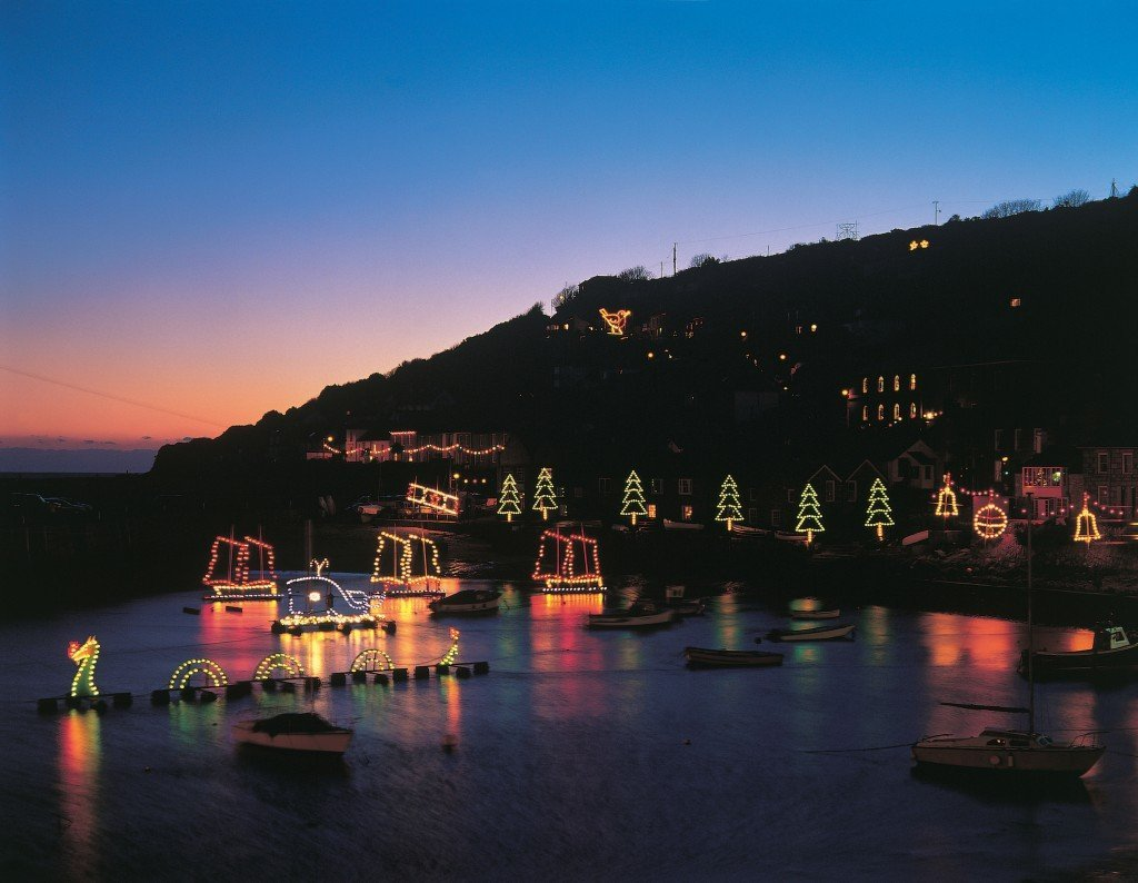 Christmas lights Mouseholes, Christmas lights at Mouseholes photo by Paul Watts, Mousehole Christmas lights, Places to visit in Cornwall, Days out in Cornwall for kids, The Mousehole Cat story, Daisies & Pie, Daisies and Pie