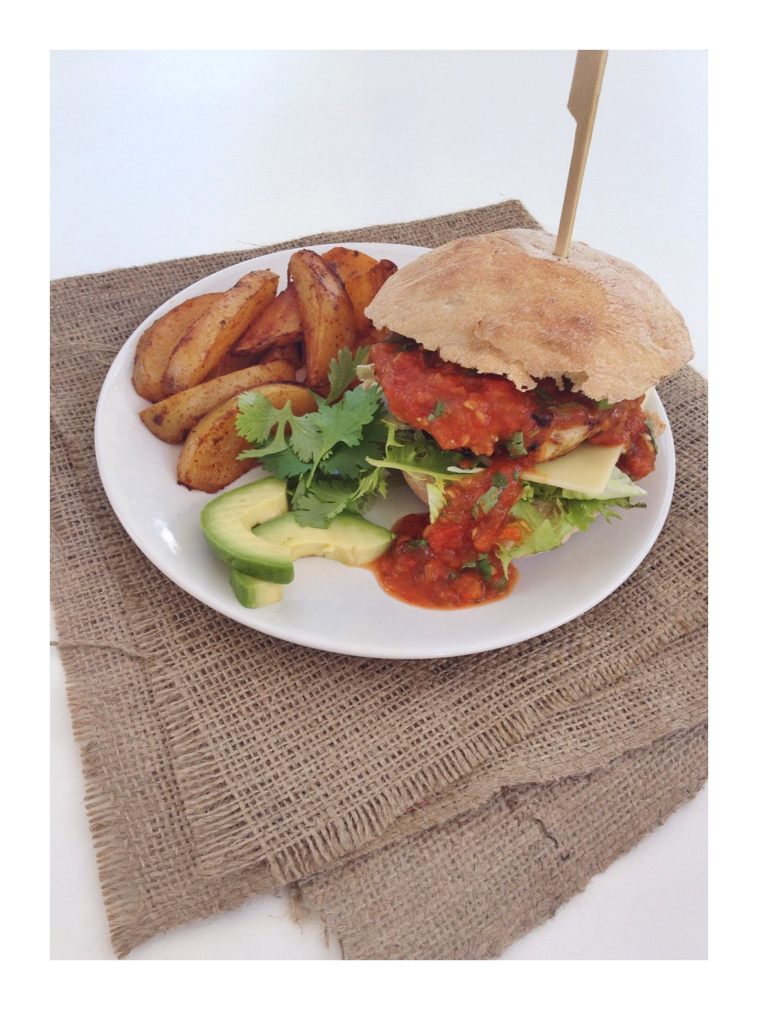 Turkey burgers with Mexican marmalade