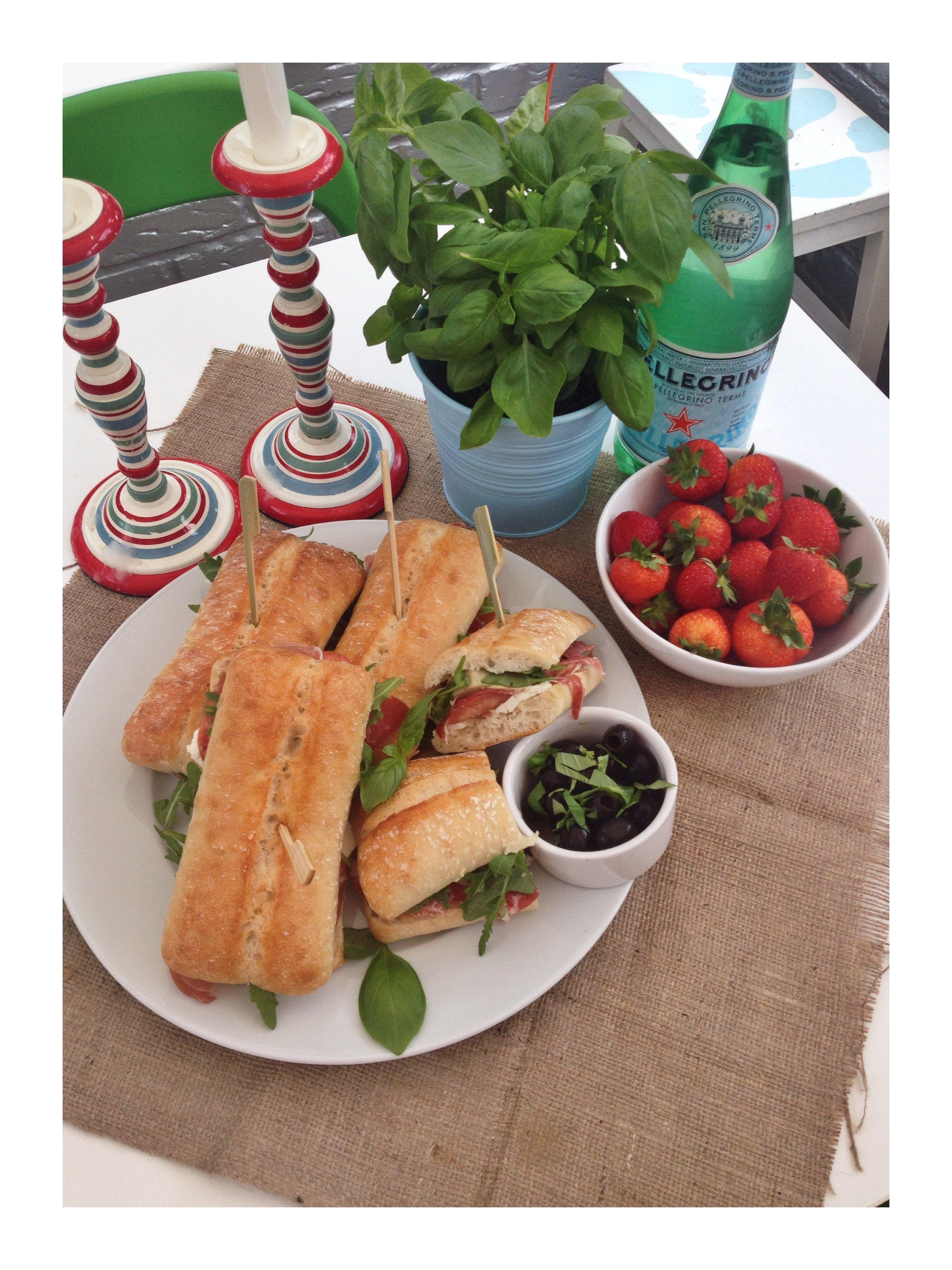 Italian style deli sandwiches