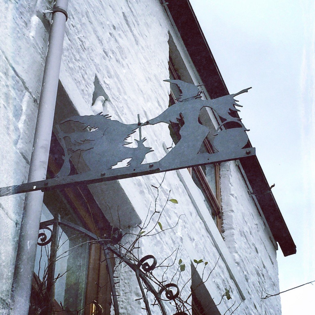 weather vane outside Witches Galore Newchurch in Pendle Lancashire