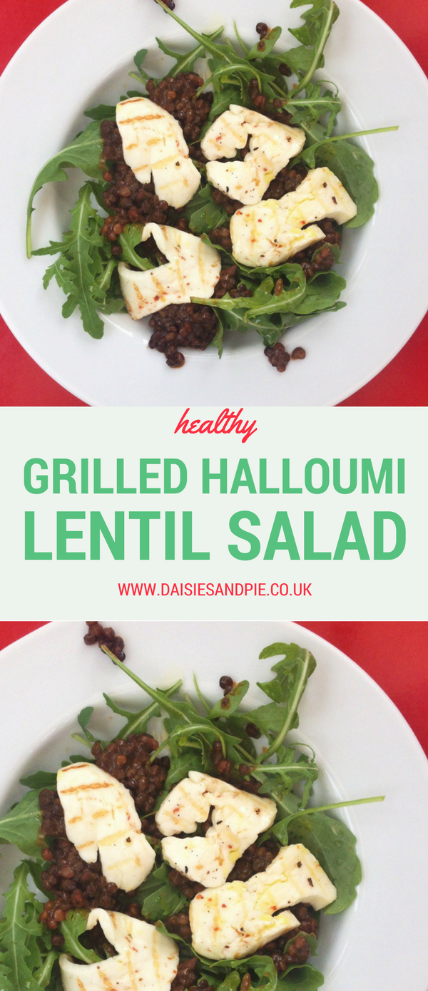 Grilled halloumi and lentil salad, quick midweek dinner recipes, meat free meals