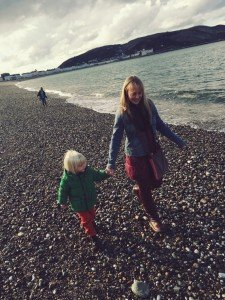 Llandudno beach, Llandudno, north wales coast, places to visit with kids in wales, pebble beach wales, days out with kids UK, daisies and pie
