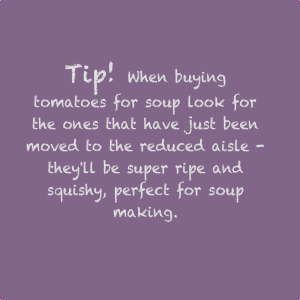 tips for making real tomato soup