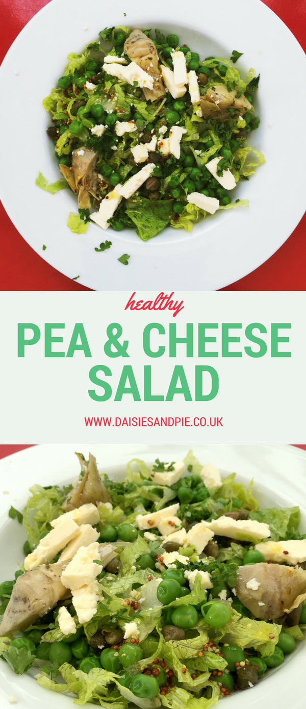 Pea and Cheese salad, quick and easy salad recipe, summer salad recipe, lunchbox recipe