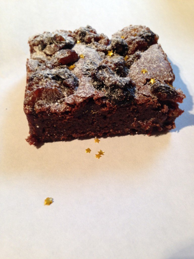 Christmas Pudding Brownie, Foxglove Kitchen, Handmade mail order brownies, Meet the Producer at Daisies and Pie