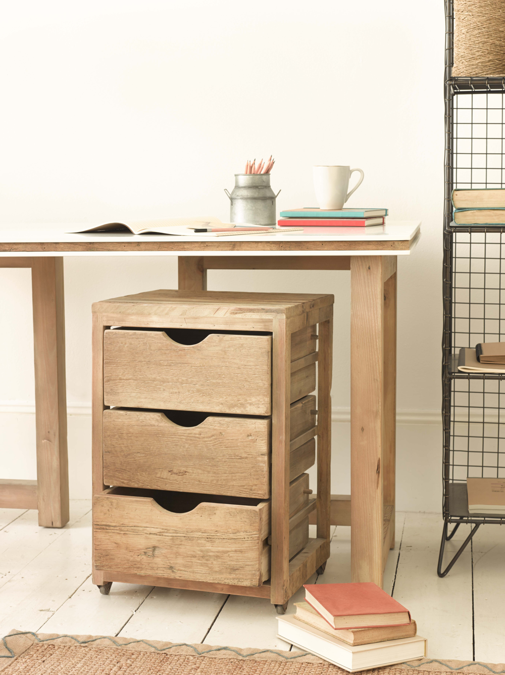 Rolly drawer unit from Loaf, hand crafted wooden draws made in distressed fir. Lovely rustic deconstructed style.