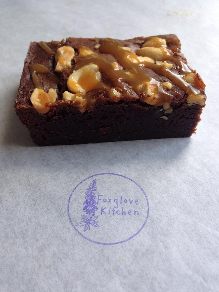 Salty Peanut and Caramel Brownies, Foxglove Kitchen, Handmade Mail Order Brownies, Meet the Producers at Daisies and Pie