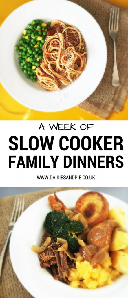 A week of slow cooker family dinner recipes, healthy family dinner recipes