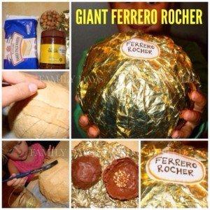 giant ferrero rocha, homemade edible christmas gifts