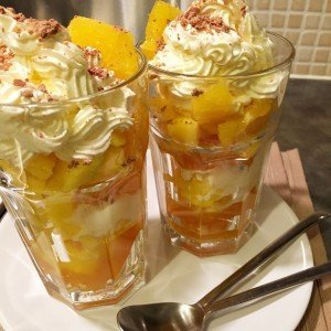 Knickerbocker glory with boozy jelly, delicious dessert recipe ideal for Christmas celebrations, easy food from Daisies and Pie