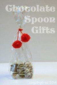 homemade chocolate spoons, edible christmas gifts