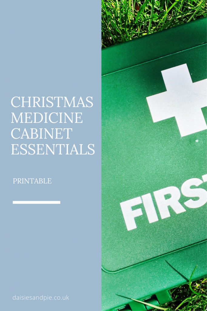 Christmas medicine cabinet essentials, homemaking tips, home organisation tips