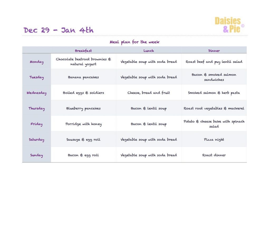 family meal plan, healthy family food, printable meal plan, easy family food from daisies and pie