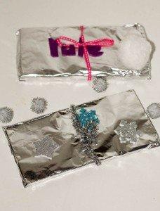DIY wrapped chocolate, homemade edible christmas gifts
