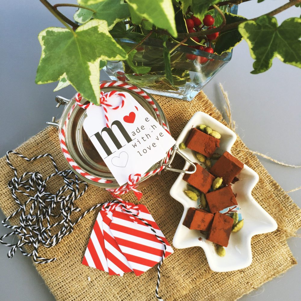 john lewis cook edition christmas spiced truffles, homemade christmas presents, how to make christmas truffles, homemade christmas with daisies and pie