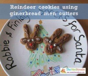reindeer cookies, homemade edible christmas gifts