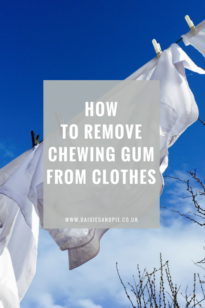 How to remove chewing gum from clothes, laundry hacks, homemaking tips