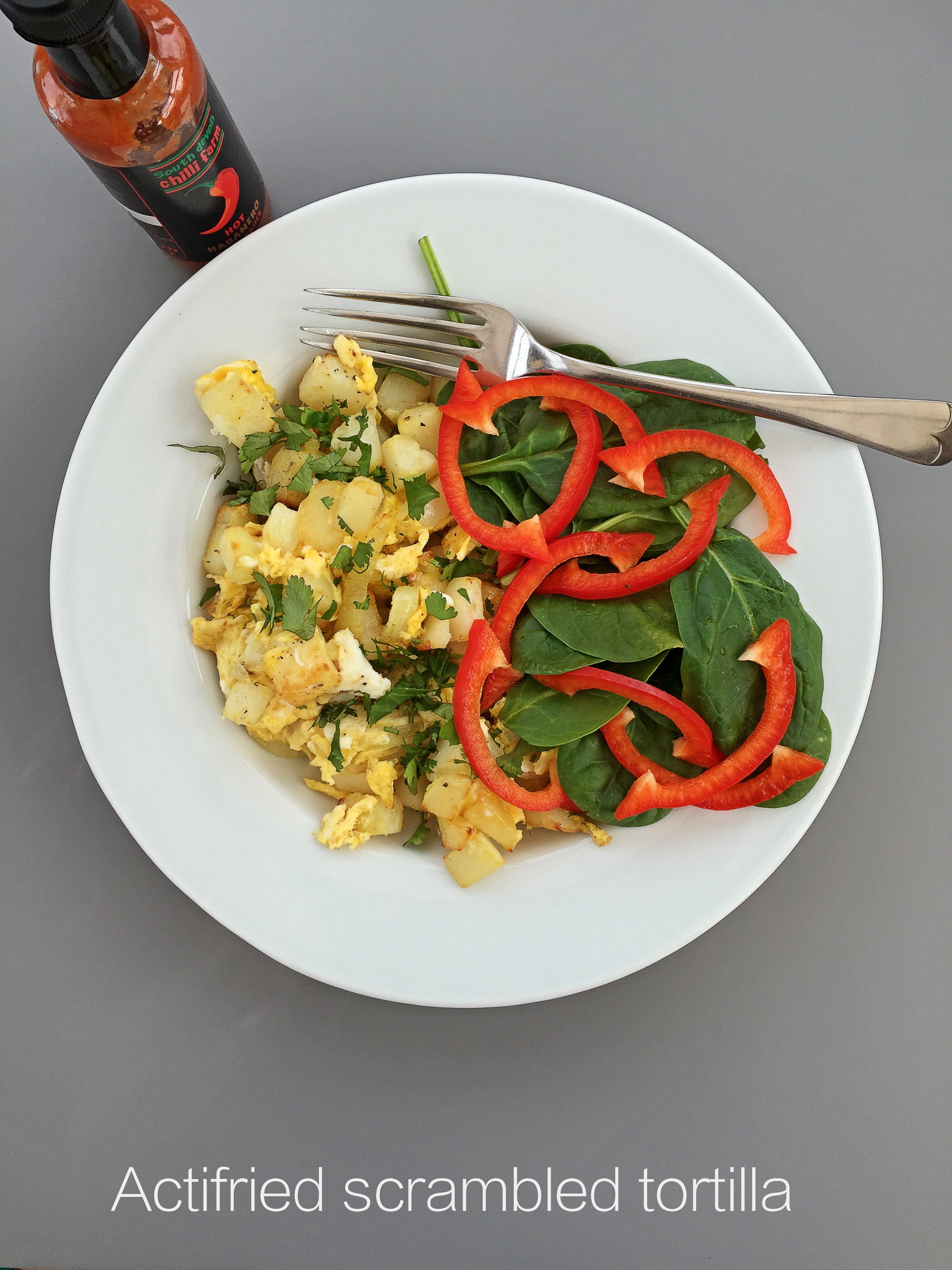 actifried scrambled tortilla made with the Tefal Actifry Family, easy ...