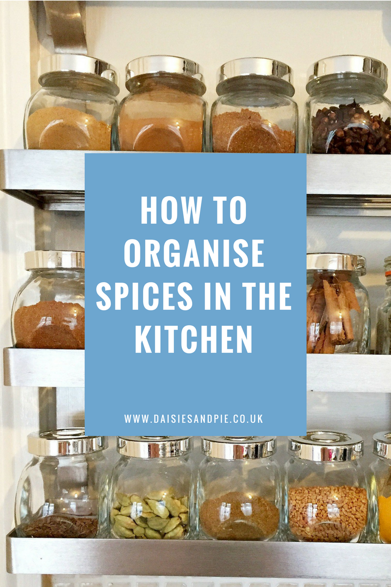 How to organise spices | Daisies & Pie