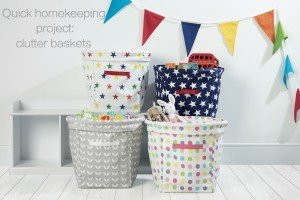 Quick homekeeping project, how to create a clutter basket, homekeeping from daisies and pie