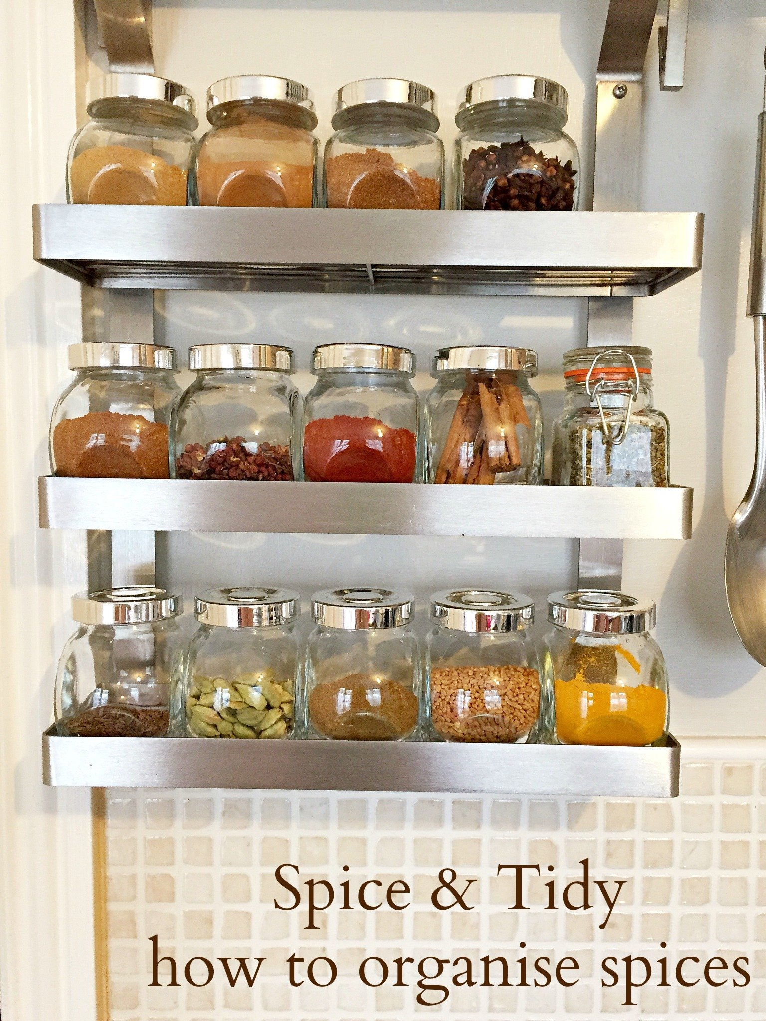 how to organise your spices small kitchen storage ideas homekeeping