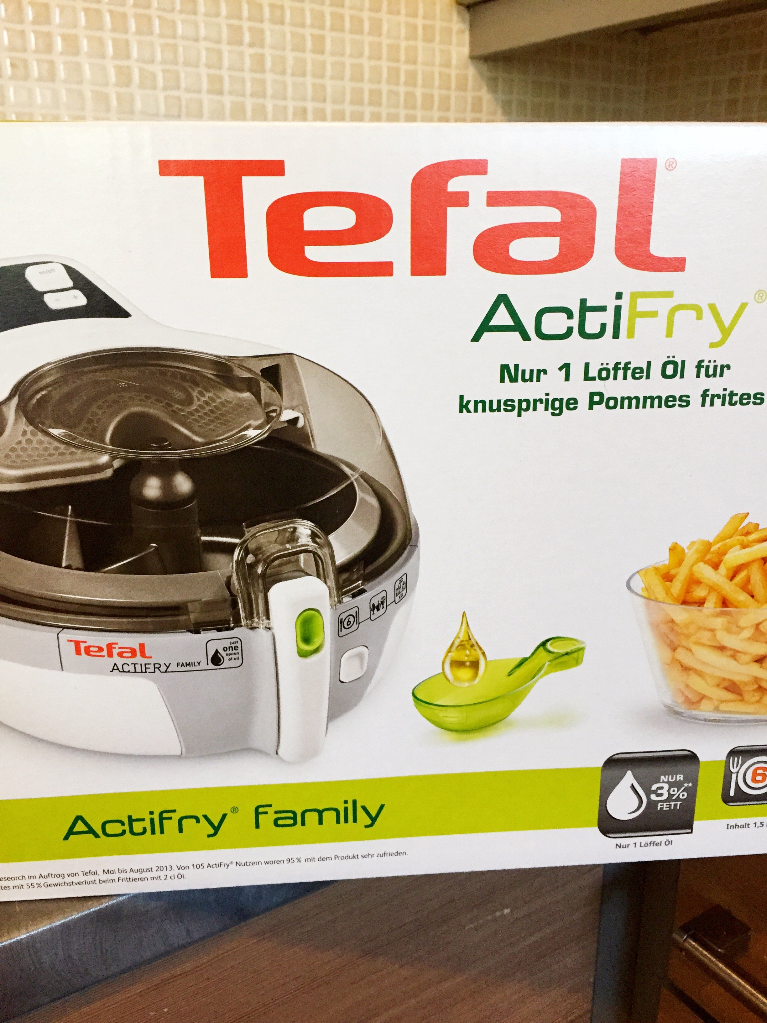 Tefal Actifry Family in the box, healthy fryer, easy family food from daisies and pie