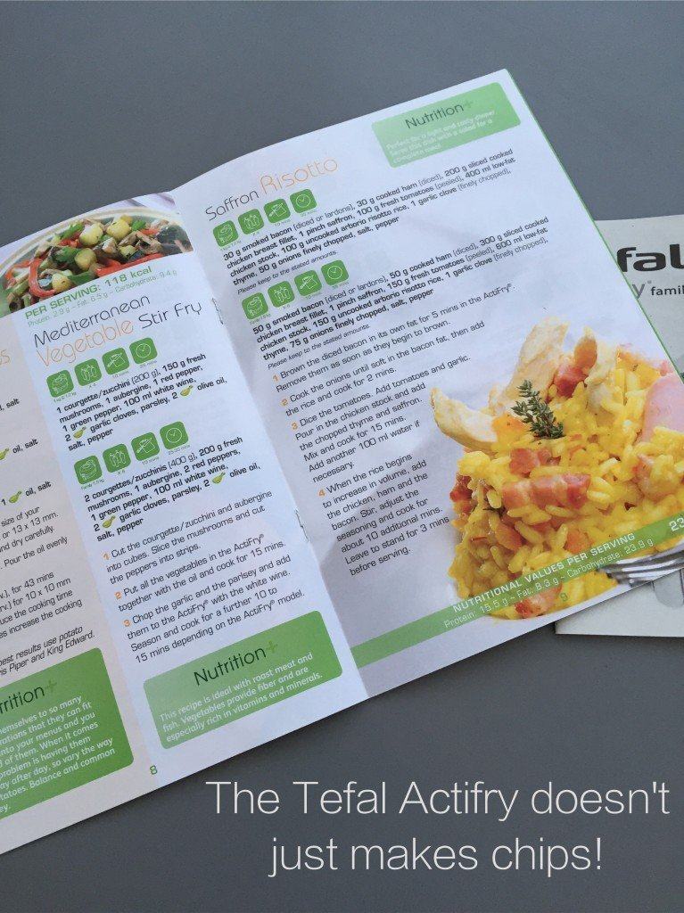 Tefal Actifry Family Review, Tefal Actifry Recipe Book, Easy family food from daisies and pie