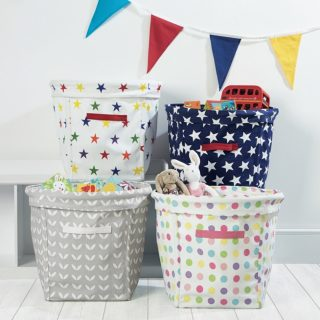 Keep clutter to a minimum at home with clutter baskets