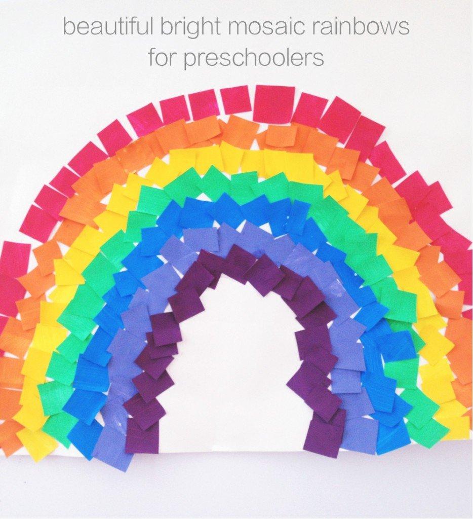 Colourful Mosaic Rainbows