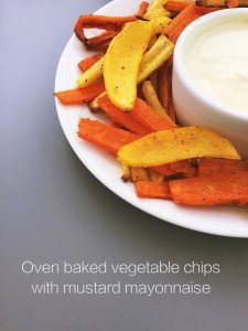 baked vegetable chips recipe, healthy chips recipe, veg box recipe, easy family food from daisies and pie