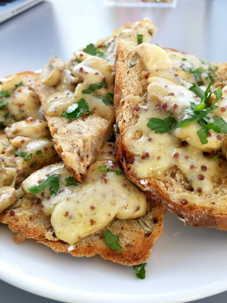 mushrooms and cheese on toast, quick weeknight meals, quick meal idea, quick lunch recipe, y-fenni cheese, easy family food from daisies and pie