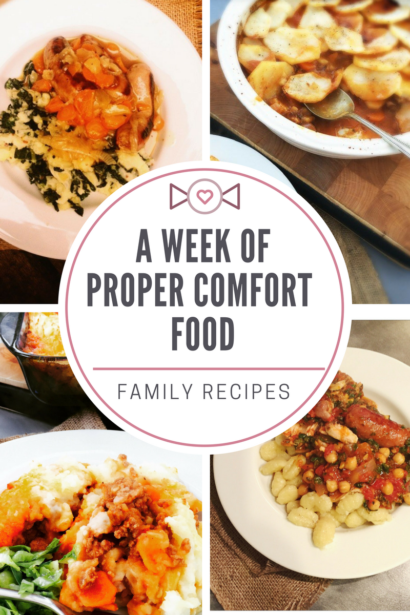 A week of comfort food, delicious family dinner recipes perfect for fall and winter, easy wholesome and oh so tasty