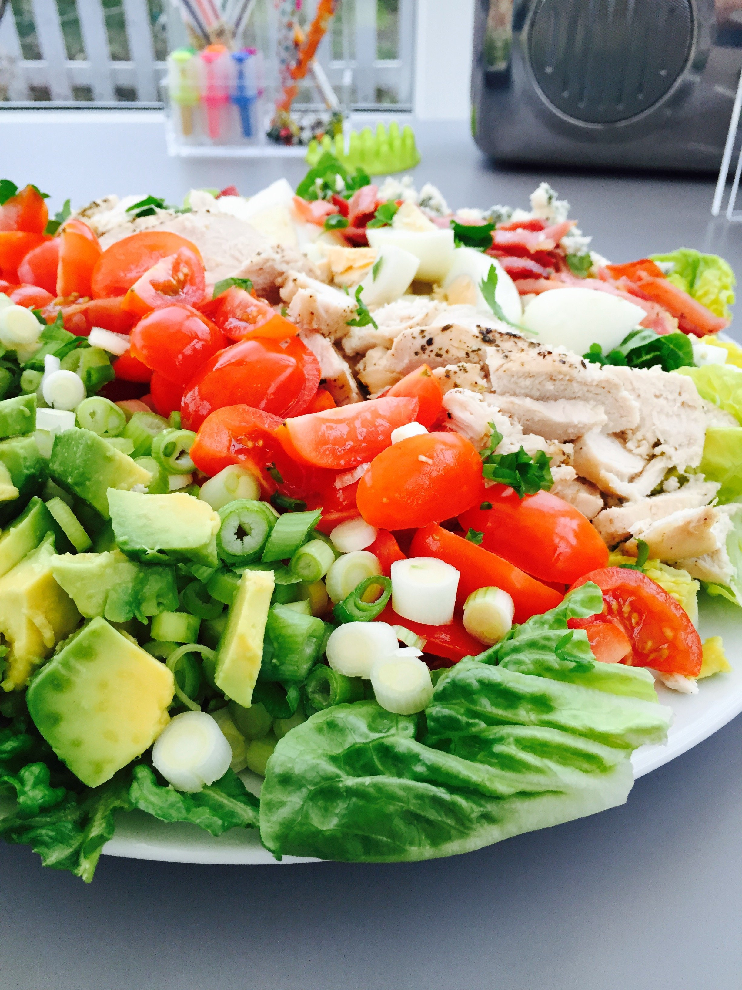 ... cobb salad, chicken salad recipe, summer food, easy family food from
