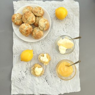 Lemon and poppy seed scones, afternoon tea recipes