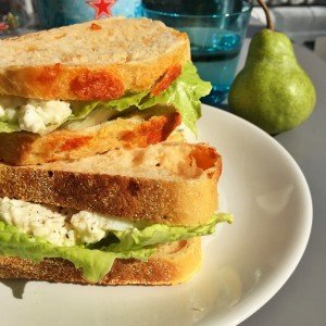 egg salad recipe, egg mayo sandwich recipe, how to make egg mayo, easy family food from daisies and pie