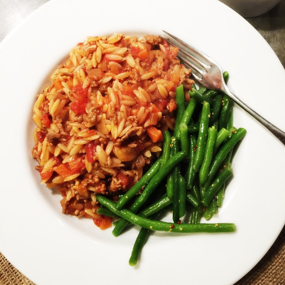 Cook up a delicious family dinner with our one pot orzo bolognese recipe